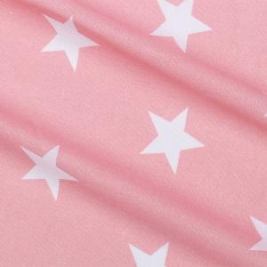 Бязь плательная 150 см 8129/32 Бязь Звезды крупные розовые о/м