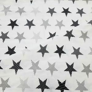 Бязь плательная 150 см 8104/5 звезды пэчворк цвет серый