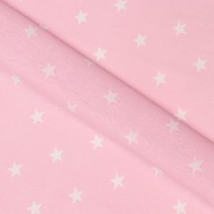 Бязь плательная 150 см 7356/32 звезды средние розовые о/м