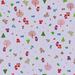 Ткань на отрез ситец 95 см 21196/9 Медвежата