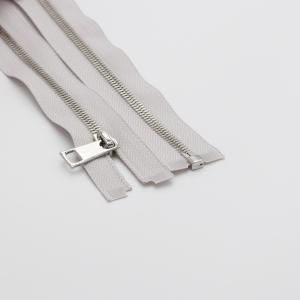 Молния металл №5СТ никель разьем 65см D316 серый