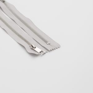 Молния металл №5СТ никель н/р 18см D316 серый