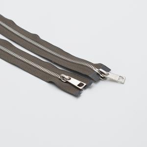 Молния металл №5СТ никель два замка 100см D034 серый