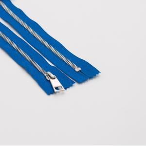 Молния металл №5СТ никель разъем 85см D115 ярко синий