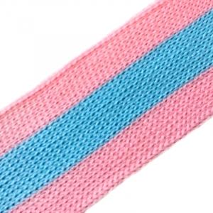 Лампасы №36 розовый голубой розовый 2,5см уп 10 м