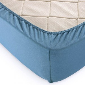 Простыня трикотажная на резинке цвет С35240.3 Голубая ель 120/200/20 см