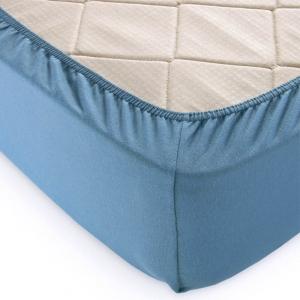 Простыня трикотажная на резинке цвет С35240.3 Голубая ель 180/200/20 см