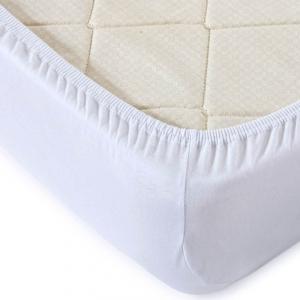 Простыня трикотажная на резинке цвет Optik2 Белый 120/200/20 см
