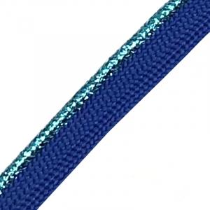 Лампасы №62 синий бирюзовый  кант с люриксом 1,2см уп 10 м
