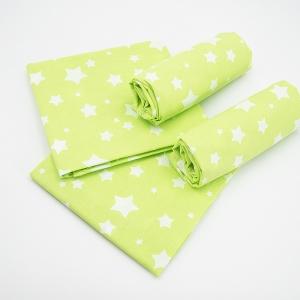 Набор детских пеленок поплин 4 шт 73/120 см 1733/7 цвет салат
