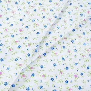 Ткань на отрез бязь ГОСТ 150 см 361/2 Полянка цвет синий