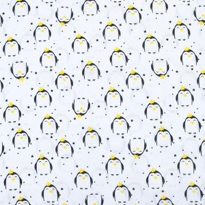Отрез 150х150 Бязь плательная 150 см 441/1 Королевский пингвин