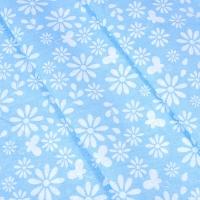 Ткань на отрез бязь плательная 150 см 1553/7 цвет голубой