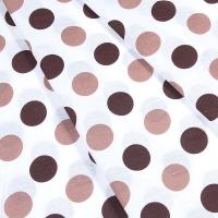 Ткань на отрез бязь плательная 150 см 1718/3 цвет кофе