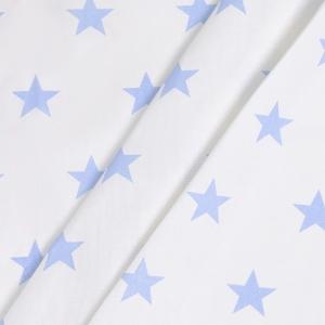 Бязь плательная 150 см 8130/31 Звезды крупные голубой б/з