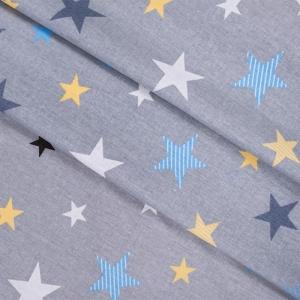 Бязь плательная 150 см 8127/2 Звезды компаньон Мишки (пэчворк) серый