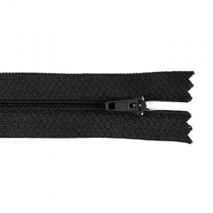 Молния пласт юбочная №3 20 см цвет черный