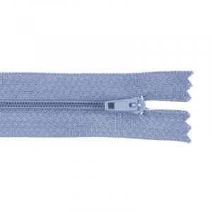 Молния пласт юбочная №3 20 см цвет голубой