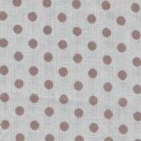 Бязь плательная 150 см 1359/9 цвет серый фон коричневый мелкий горох