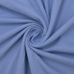 Ткань на отрез кулирка 1022-V61 Пшено на сиреневом