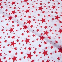 Ткань на отрез бязь плательная 150 см 1556/4А цвет красный