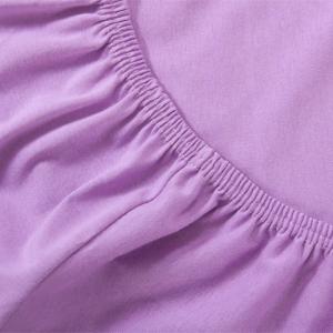 Простыня трикотажная на резинке цвет FLL02132 Сиреневый 60/120/12 см