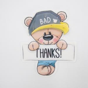 Нашивка Мишка THANKS 3D 17*14см