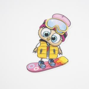 Нашивка Сова на сноуборде 3D 19*13см
