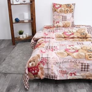 Детское постельное белье из бязи 1.5 сп 193551 Плюшевые мишки 1 роз 1