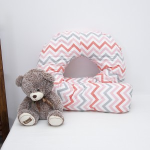 Наволочка поплин на подушку для беременных U-образная 1797/5 цвет красный