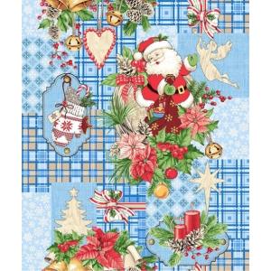 Полотно вафельное 50 см набивное арт 60 Тейково рис 5642 вид 1 Дед Мороз