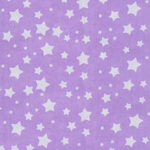 Ткань на отрез перкаль 150 см 13165/15 Звезда цвет сиреневый