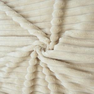 Ткань на отрез велсофт Orrizonte 300 гр/м2 200 см цвет кремовый