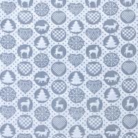 Ткань на отрез поплин 150 см 428/17 цвет серый