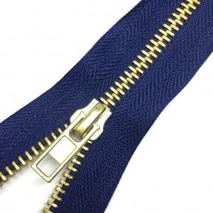Молния джинсовая золото №5 18см D330 темно-синий п/авт.