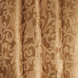 Портьерная ткань 150 см на отрез 12 цвет золото вензель