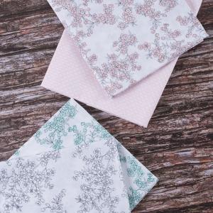 Набор отрезов ткани Перкаль 50/50 +/- 5 см 4 шт 3