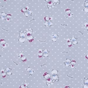 Ткань на отрез кулирка Мишка 4082-V1 цвет серый