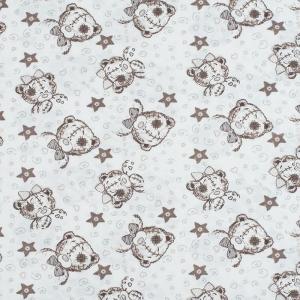 Ткань на отрез кулирка Мишка Тедди 3183-V1