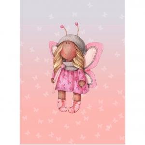 Ткань на отрез перкаль детский 112/150 см 05 Миланья цвет розовый