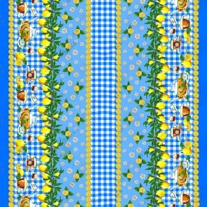 Ткань на отрез рогожка 150 см 4549/1 Лимоны