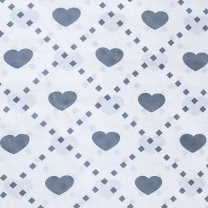 Бязь плательная 150 см 1958/4 Любовь цвет серый