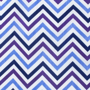 Бязь плательная 150 см 7778/2 Зигзаг цвет фиолетовый