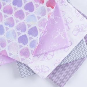 Набор отрезов ткани Поплин 50/50 +/- 5 см 5 шт 347