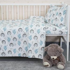 Постельное белье в детскую кроватку из бязи 7337/1 Ёжики