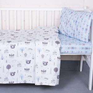 Постельное белье в детскую кроватку 7334/1 Индейцы с простыней на резинке