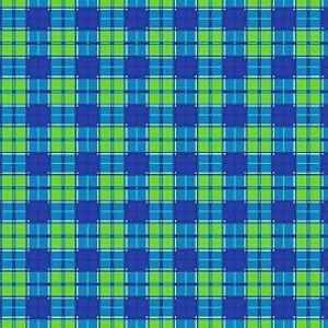 Вафельное полотно набивное 150 см 397/1 Новая клетка цвет синий