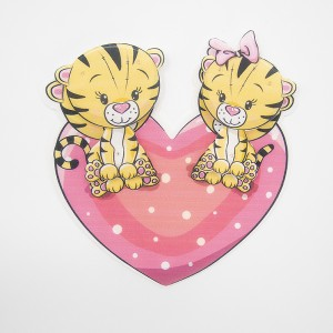 Нашивка Тигрята на сердце 3D 19*19см