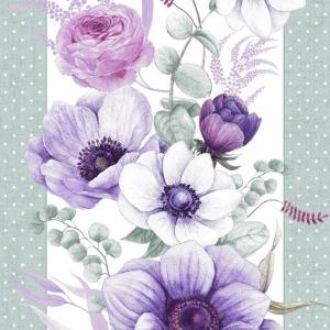 Ткань на отрез вафельное полотно 50 см 30143/1 Виолет