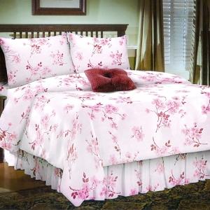 Ткань на отрез бязь 120 гр/м2 220 см 5204/2 Сакура цвет розовый